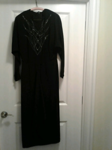 Evening Gown/ Long Dress (Black) - Jackie K circa 1990s