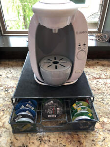 Great condition Tassimo coffee machine with stand shown in photo
