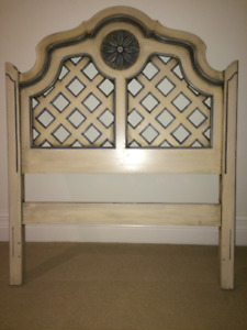 hand painted antique bed frame - kid's room