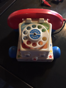 Vintage 1961 Fisher Price Pull and Play Phone