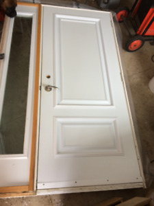 entry door with sidelight good condition