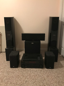 7.1 surround sound system with Pioneer and all the speaker cord