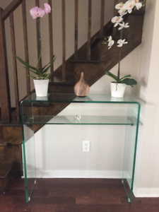 Console en Verre / Table D'entree ** Glass Console / Hall Table