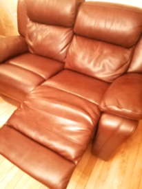 Leather 2 seater recliner