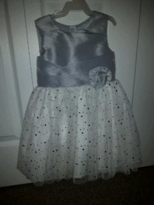 Silver sparkly size 4 dress