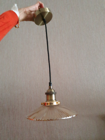 Ceiling lamp and shade E27 fitting, all in vintage style