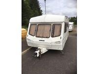 Lunar caravan - inside past repair, good for trailer - galvanised chassis.