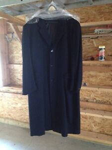 Men's full length wool winter weight coat