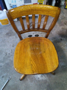 Old wooden antique chair