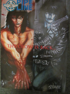 """VERY RARE - AUTOGRAPHED """" THE CROW """" POSTER"""
