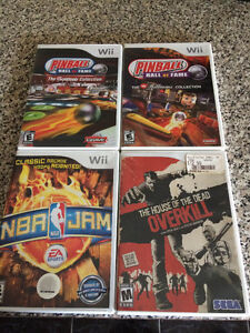 4 Rare Wii Games -House of the Dead NBA Jam Pinball Hall of Fame