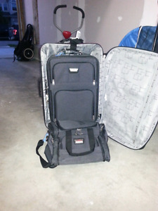 Three pieces of luggage.