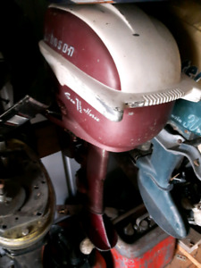 1957 5.5hp Johnson outboard