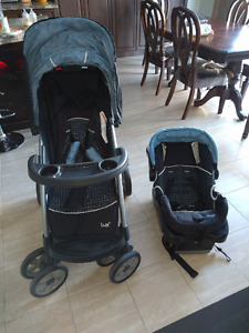 LUX travel system stroller plus car seat - Like new