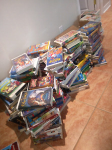 Tons of disney and kids vhs tapes