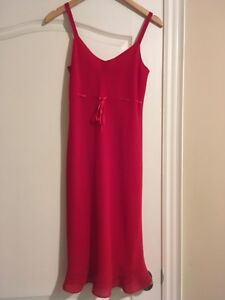 Ladies size 6 red dress