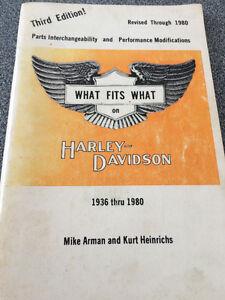 Vintage Harley Davidson Original Parts Cross over Book
