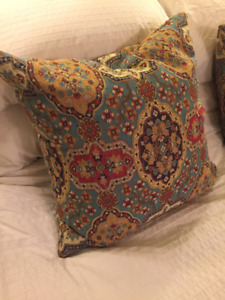 Boho Tapestry Accent Pillows - pair