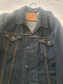 new Levi's mens dark denim jacket XXL
