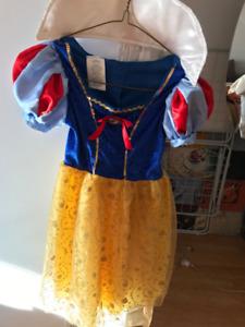 Robe de Blanche Neige fillette 4 ans