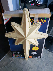 Large Lighted Christmas Star