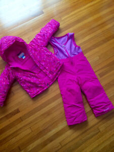 Child's Bright Pink COLUMBIA Snowsuit
