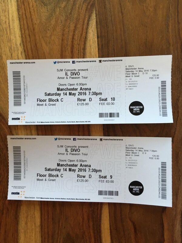 2x il divo meet greet tickets manchester in perth perth and 2x il divo meet greet tickets manchester m4hsunfo