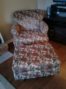 Comfy Matching  Chairs and ottoman