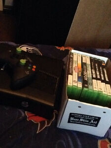 Xbox360 with games and modded controller
