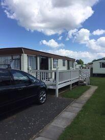 Caravan butlins Skegness term time breaks 9 birth 3 bedroom van.