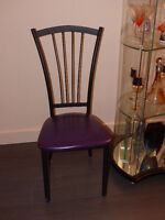 Elegant and Sturdy Metal Dining Chairs with Upholstered Seat