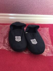 Dundee FC navy slippers