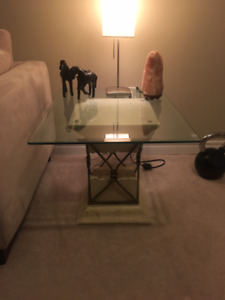 Glass/Stone Coffee and end tables. Open to offers