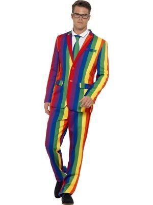 Rainbow Anzug Gay Pride Regenbogen Slimline 3-teilig Premium