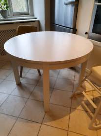 Ikea BJURSTA Extendable Round Table 115 cm