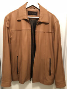 MARC NEW YORK / ANDREW MARC LEATHER JACKET (LIGHT BROWN S)