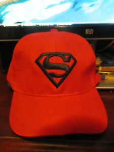 NEW RED SUPERMAN BASEBALL CAP TODDLER TO YOUTH
