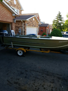16 ft aluminum boat with 30 hp Yamaha and trailer