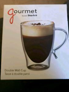 Starfrit Gourmet 12-Ounce Double Wall Glass Coffee Mug