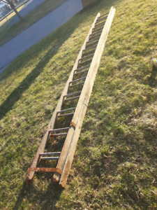 24ft wood ladder