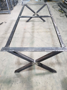 Heavy duty metal table base and legs for sale