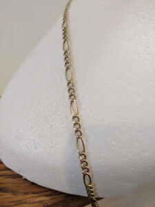 Men's 14k gold figaro 24 inch 5mm wide chain
