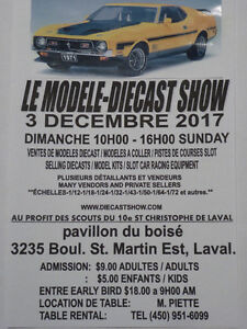 THE MODEL DIECAST SHOW NEAR MONTREAL  SUNDAY DECEMBER 3, 2017  1
