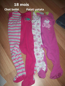 FILLE 18 mois  robe, pyjamas, pantalon Saguenay Saguenay-Lac-Saint-Jean image 1