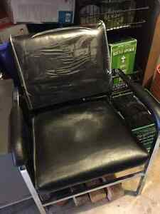 brand new leather salon chair