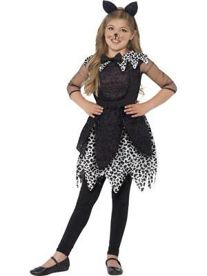 Mädchen Halloween Deluxe Hexe Glitzer schwarze Katze Kostüm kinder-outfit
