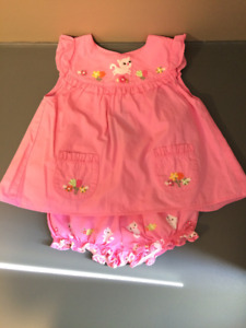3T Gymboree Short and T-shirt pink kitty set
