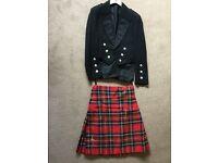 Royal Stewart Kilt & Prince Charlie Jacket, waist coat