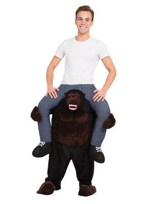 Adult Gorilla Piggyback Ride Me On Piggy Back Costume Monkey Stag Halloween - Gorilla Kostüm Piggy Back
