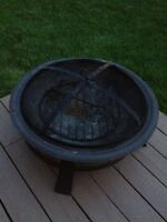 Wood burning fire bowl